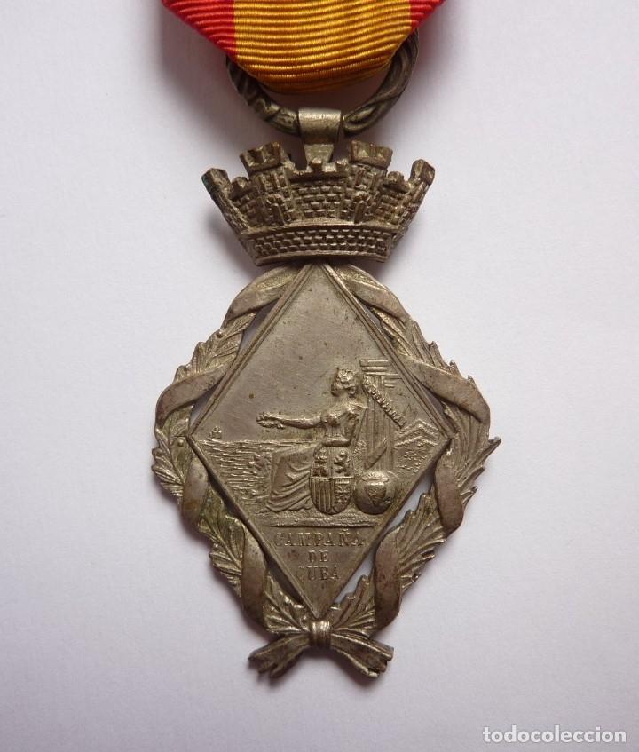 ESPAÑA 1873 - MEDALLA CAMPAÑA DE LA GUERRA DE CUBA - TAMAÑO MEDIANO (PRINCESA) (Militar - Medallas Españolas Originales )