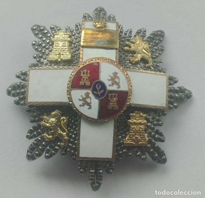 PLACA MERITO MILITAR DISTINTIVO BLANCO (Militar - Medallas Españolas Originales )