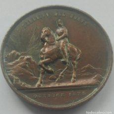 Militaria: MEDALLÓN AL EJÉRCITO DEL NORTE. GUERRAS CARLISTAS. 1878. ÉPOCA ALFONSO XII. Lote 164545962