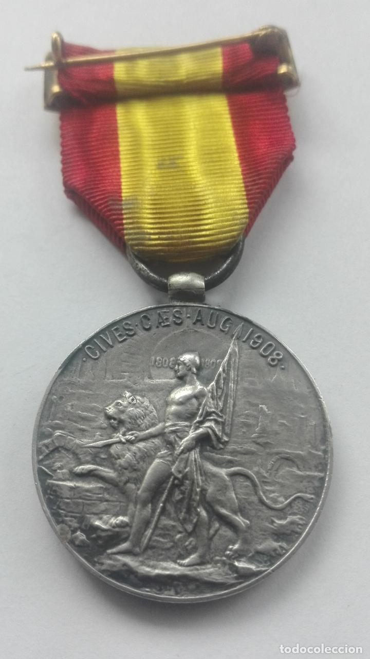 Militaria: Medalla de los Sitios de Zaragoza. Época Alfonso XIII - Foto 2 - 164634978