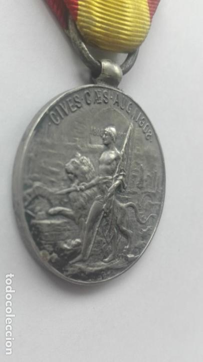 Militaria: Medalla de los Sitios de Zaragoza. Época Alfonso XIII - Foto 3 - 164634978
