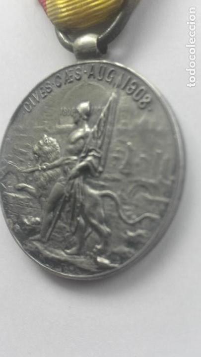 Militaria: Medalla de los Sitios de Zaragoza. Época Alfonso XIII - Foto 4 - 164634978