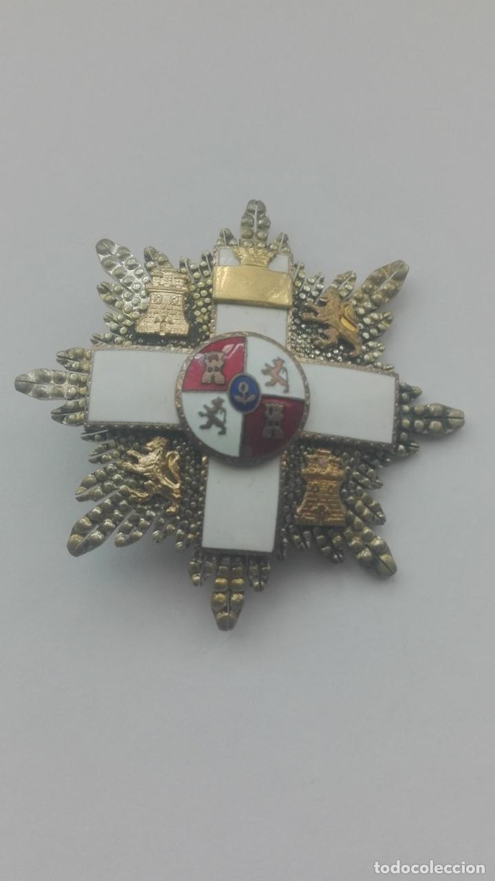 PLACA GRAN CRUZ MÉRITO MILITAR. ÉPOCA FRANCO (Militar - Medallas Españolas Originales )