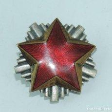 Militaria: ESTRELLA ROJA YUGOSLAVA. (ZAGREB) DIVISION AZUL. BRIGADAS INTERNACIONALES. MIDE 4 CMS. PLACA CON LA . Lote 164694346