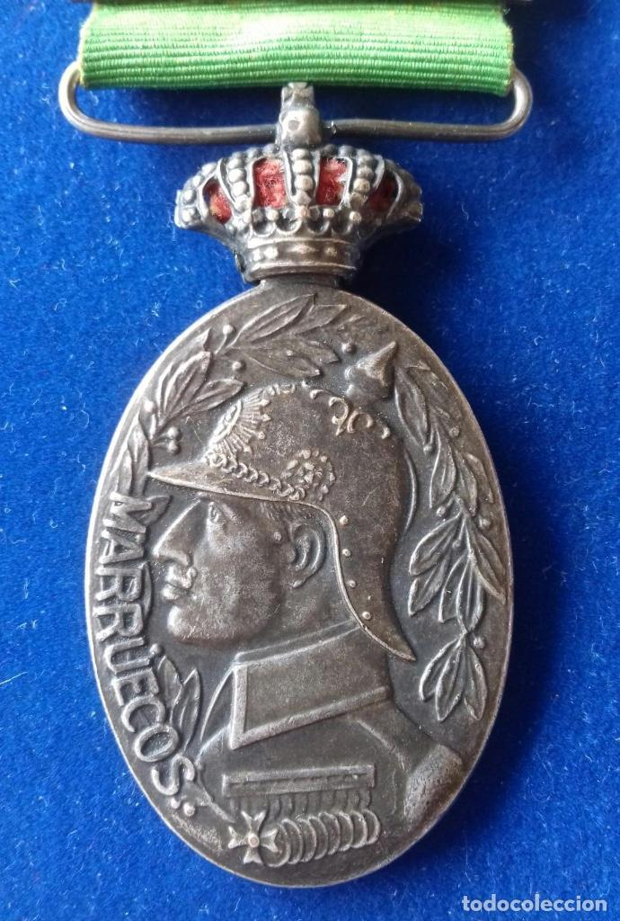 MEDALLA MILITAR DE MARRUECOS 1916 - CATEGORIA PLATA CON PASADOR MELILLA (Militar - Medallas Españolas Originales )