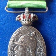Militaria: MEDALLA MILITAR DE MARRUECOS 1916 - CATEGORIA PLATA CON PASADOR MELILLA. Lote 164723502