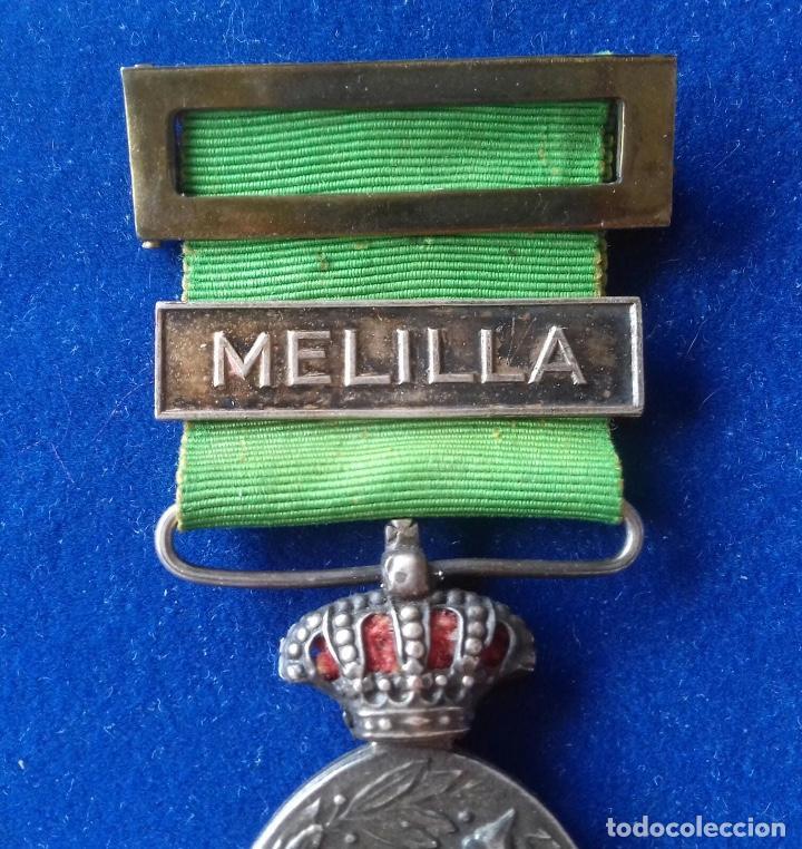 Militaria: MEDALLA MILITAR DE MARRUECOS 1916 - CATEGORIA PLATA CON PASADOR MELILLA - Foto 3 - 164723502