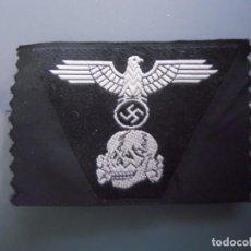 Militaria: TRAPEZOIDE PARA GORRA TROPAS ACORAZADAS WAFFEN SS. Lote 164732714