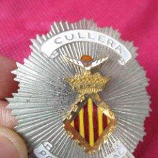 Militaria: PLACA POLICIA ANTIGUA ORIGINAL CULLERA. Lote 164749454