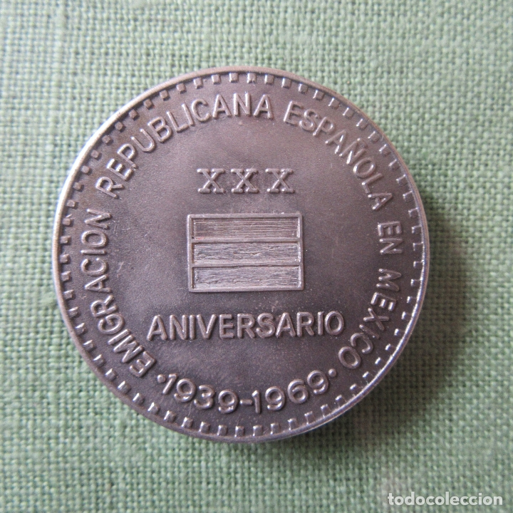 Militaria: Medalla republica guerra civil, mexico - Foto 3 - 164816142