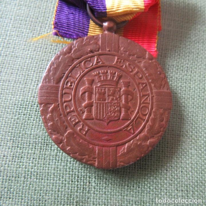 Militaria: medalla republica española guerra civil, exilio - Foto 2 - 164816250