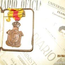 Militaria: MEDALLA PERTENECIENTE A ALFEREZ TENIENTE PILOTO AVIACION DE MADRID Y PERIODICO ASCENSO. Lote 164997874