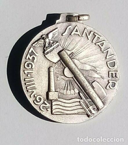 MEDALLA LIBERACION SANTANDER CATEGORIA PLATA CTV ITALIANO GUERRA CIVIL ESPAÑOLA (Militar - Medallas Extranjeras Originales)