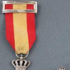 Militaria: MEDALLA E INSIGNIA EN PLATA INSTITUTO NACIONAL DE PREVISIÓN LEY XXVII FEBRERO DE 1908. Lote 165600874