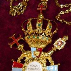 Militaria: GRAN CRUZ DE LA REAL ORDEN DE NICOLÁS II EL MÁRTIR. CORDÓN EN PLATA DORADA CON MARCAJES. PIEZA ÚNICA. Lote 166023942