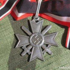Militaria: REPRO. KRIEGSVERDIENSTKREUZ . CRUZ DE CABALLERO DEL MERITO MILITAR ALEMÁN. III REICH SS KVK. Lote 164155042