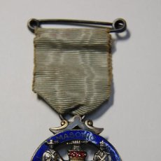 Militaria: MEDALLA MASONICA INGLESA DE PLATA MACIZA DE 1920.EXTRAORDINARIO ESTADO.. Lote 166943032