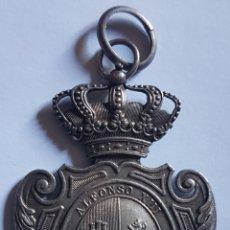 Militaria: MEDALLA PLATA DIRECCION GENERAL INSTRUCCIÓN PÚBLICA ALFONSO XIII. Lote 167546388