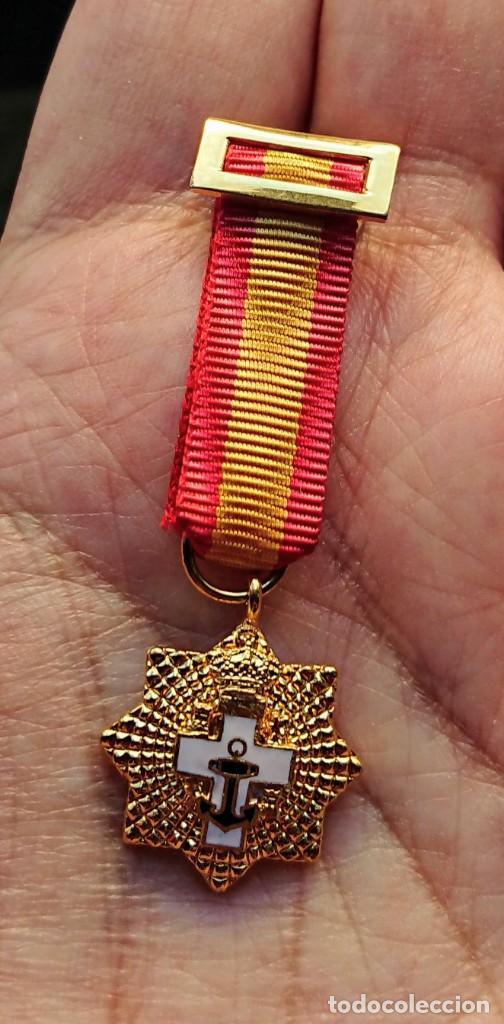 MINIATURA GRAN CRUZ MÉRITO NAVAL ÉPOCA JCI (Militar - Medallas Españolas Originales )