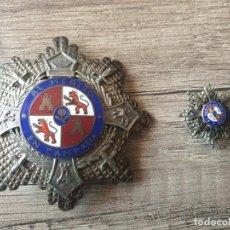 Militaria: LOTE PLACA MERITO EN CAMPAÑA Y MINIATURA GUERRA CIVIL. Lote 167937648