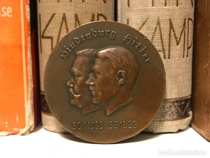 MEDALLA CONMEMORATIVA NUEVO CANCILLER DE ALEMANIA HINDENBURG HITLER 1933, NAZI, TERCER III REICH (Militar - Medallas Extranjeras Originales)
