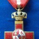 Militaria: CRUZ ROJA DE PRIMERA CLASE DEL MERITO MILITAR - EPOCA ALFONSO XIII - FABRICANTE CASTELLS. Lote 168268900