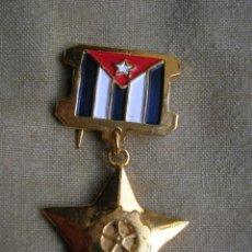 Militaria: MUY BELLA ORDEN CUBANA DE HEROE DEL TRABAJO SOCIALISTA DE LA REPUBLICA DE CUBA. ORIGINAL 100%.. Lote 196243611