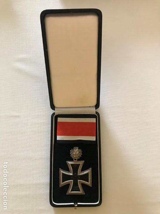 Militaria: Cruz de Caballero con hojas de roble eichenlaub ritterkreuz Reich Hitler Fuhrer NSDAP nazi - Foto 3 - 168494316