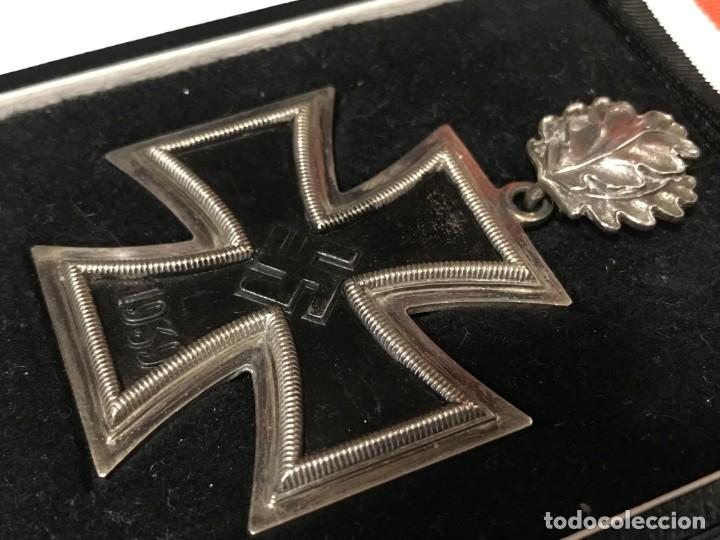 Militaria: Cruz de Caballero con hojas de roble eichenlaub ritterkreuz Reich Hitler Fuhrer NSDAP nazi - Foto 5 - 168494316