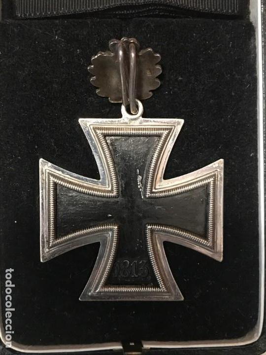 Militaria: Cruz de Caballero con hojas de roble eichenlaub ritterkreuz Reich Hitler Fuhrer NSDAP nazi - Foto 9 - 168494316