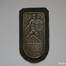 Militaria: WWII THE GERMAN LORIENT SHIELD. Lote 278474708
