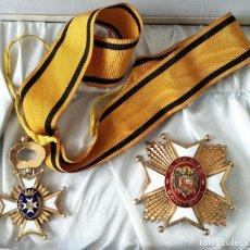Militaria: ESPECTACULAR PLACA Y MEDALLA AL MÉRITO SANITARIO, ESTUCHE ORIGINAL ÉPOCA FRANCO, GOBERNADOR SEVILLA. Lote 168937464