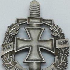 Militaria: RÉPLICA PLACA ANIVERSARIO EJÉRCITO WEHRMACHT. ESPADA, CRUZ DE HIERRO Y HOJAS DE ROBLE. ALEMANIA. 2ª. Lote 200171918