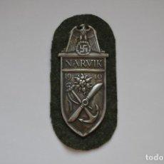 Militaria: WWII THE GERMAN NARVIK SHIELD. Lote 169597458