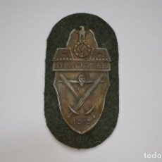 Militaria: WWII THE GERMAN DEMJANSK SHIELD. Lote 169597470