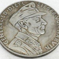Militaria: RÉPLICA MEDALLA GENERAL EDUARD DIETL. BATALLA DE NARVIK. 10-6-1940. II GUERRA MUNDIAL, ALEMANIA. Lote 170015812