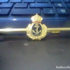 Militaria: MARINA NAVAL ANCLA BAJO CORONA LAUREADA PASADOR DE CORBATA POR DETERMINAR. Lote 170280608