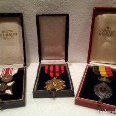 Militaria: TRIO DE CONDECORACIONES BELGAS DE 1A Y 2A CLASE. Lote 170457384