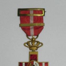 Militaria: MEDALLA, MERITO CON DISTINTIVO ROJO PENSIONADA, ÉPOCA ALFONSO XIII, BUEN ESTADO DE CONSERVACION CON . Lote 170492108