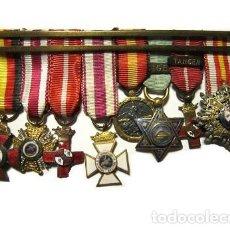 Militaria: PASADOR CON MEDALLAS MINIATURAS. Lote 170492572