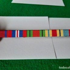 Militaria: WW2. REINO UNIDO. MAGNIFICO PASADOR CINCO MEDALLAS. IMPECABLE. Lote 170524916