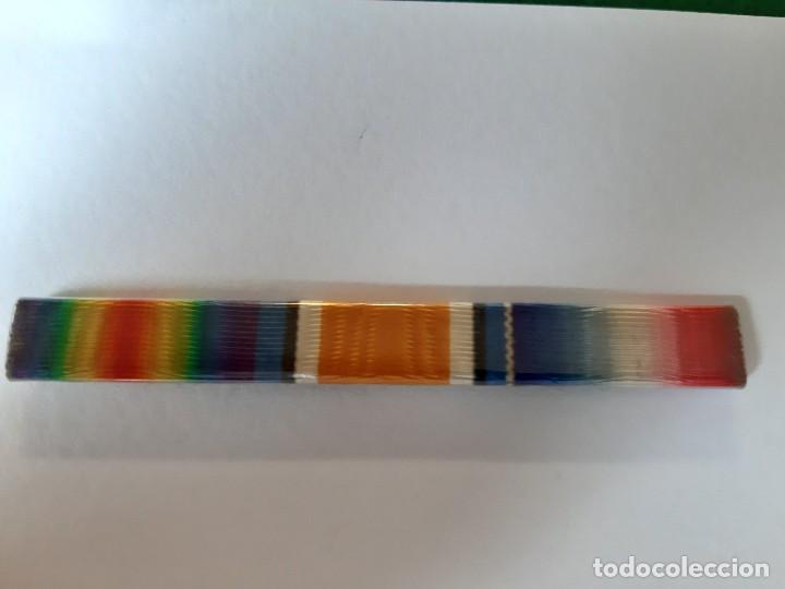WW1. REINO UNIDO. PASADOR DE TRES MEDALLAS (Militar - Cintas de Medallas y Pasadores)