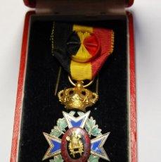Militaria: PRECIOSA MEDALLA DE BELGICA.AL MERITO EN EL TRABAJO DE 1ª CLASE.EN SU CAJITA ORIGINAL.. Lote 133247922