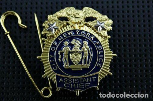 Militaria: Placa de la Policía de Nueva York. Del New York City Police Department (NYPD). - Foto 1 - 170977603