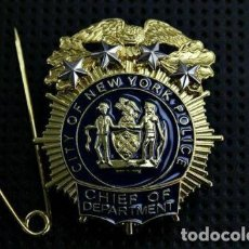 Militaria: PLACA DE LA POLICÍA DE NUEVA YORK. JEFE DEL NEW YORK CITY POLICE DEPARTMENT (NYPD).. Lote 170978023
