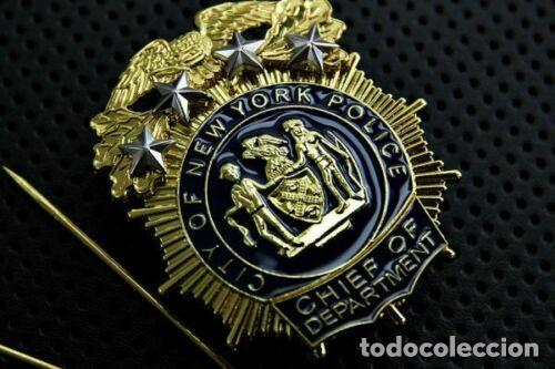 Militaria: Placa de la Policía de Nueva York. Jefe del New York City Police Department (NYPD). - Foto 2 - 170978023