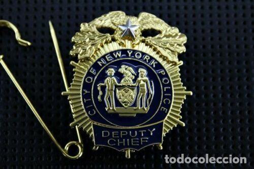 PLACA DE LA POLICÍA DE NUEVA YORK. NEW YORK CITY POLICE (NYPD). (Militar - Reproducciones y Réplicas de Medallas )