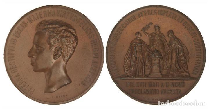 MEDALLA PROCLAMACION ALFONSO XIII 1902 EBC (Militar - Medallas Españolas Originales )