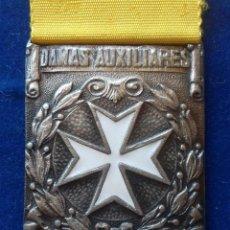 Militaria: MEDALLA DE DAMAS AUXILIARES DE SANIDAD MILITAR 1940 - PASADOR CONSTANCIA - MARCAJE FABRICANTE. Lote 171250469