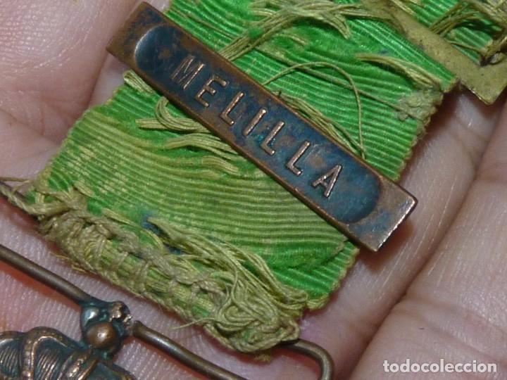 Militaria: MEDALLA BIFAZ ALFONSO XIII CAMPAÑA DE MARRUECOS 1916 PASADOR MELILLA CON MUCHA VIDA - Foto 3 - 171273834